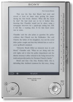 ebook format support sony prs 505 ebook reader itech news net