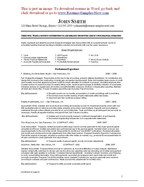 Bookkeeper Resume by Sle Bookkeeper Resume Musiccityspiritsandcocktail