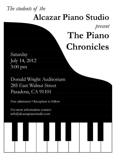 piano recital invitation stuff i make pinterest