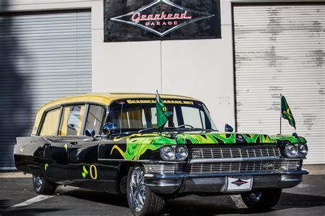 Gearhead Garage Sacramento by 1964 Cadillac Hearse Oregon Ducks Tailgater Gearhead
