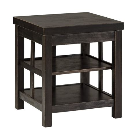 ashley gavelston sofa table ashley gavelston square end table in rubbed black t752 2