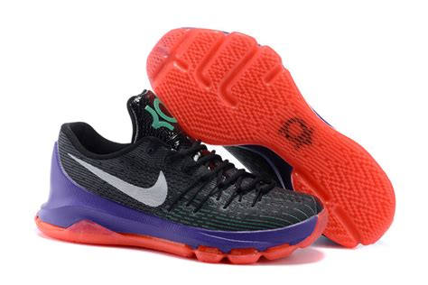 purple and orange basketball shoes nike kd 8 dual black purple orange basketball shoes