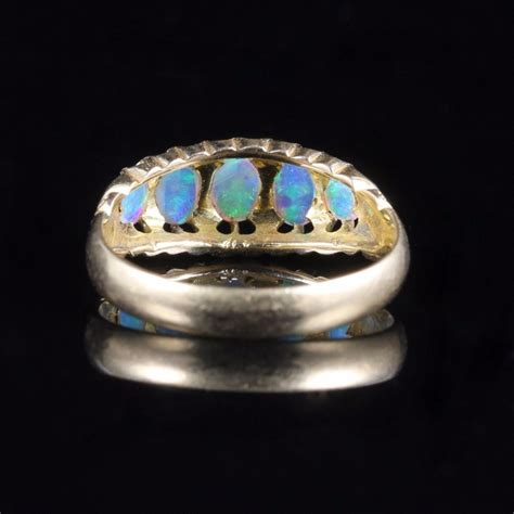 antique opal ring five circa 1880 442098