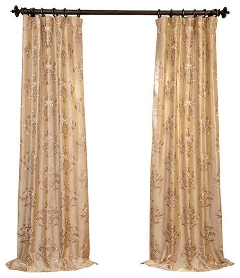 faux silk embroidered curtains ankara chagne embroidered faux silk curtain