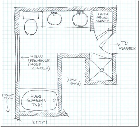 drawing bathroom floor plans remodelaholic dream master bathroom inspiration