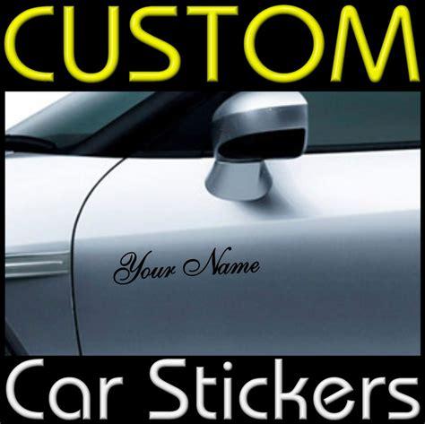 design stickers online uk 2 x custom personalised vinyl car or van stickers decal ebay