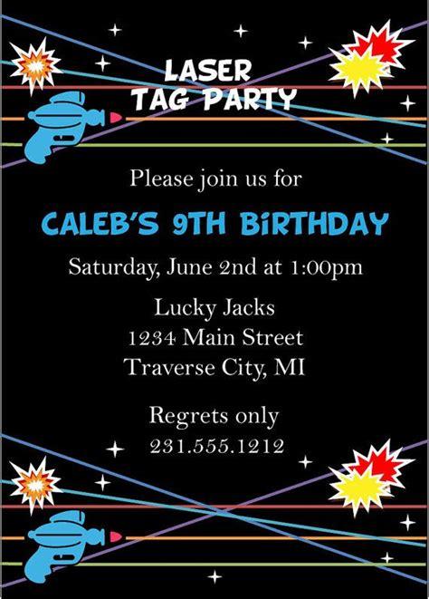 laser tag invitation laser tag birthday invitation