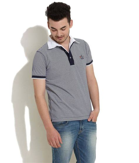 Thin Stripe Casual Top 23399 taanz casual thin striped polo white t shirt buy taanz casual thin striped polo white t shirt