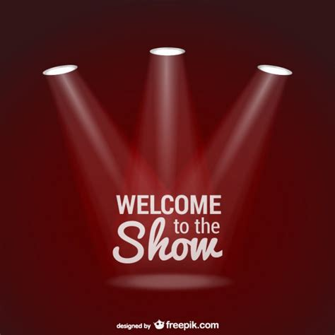scow images welcome to the show background with spotlights vector