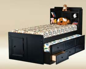 size combo trundle with 3 drawers in optional finish