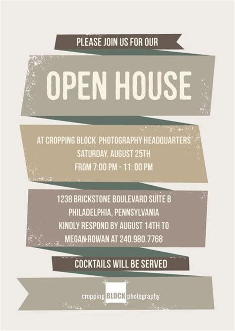 business open house invitation template sanjonmotel