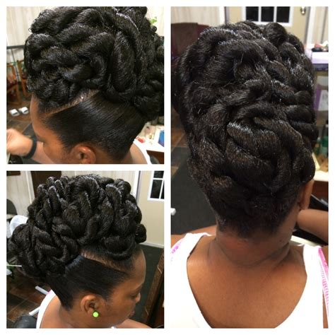 updo hairstyles with big twist rope twist updo explicit hair designs pinterest rope