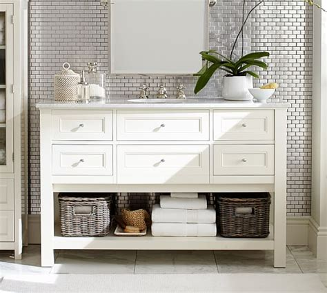 pottery barn sink console classic single wide sink console white pottery barn