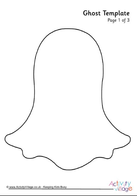 ghost template printable ghost template 1