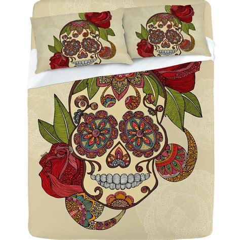 sugar skull bedroom decor valentina ramos sugar skull sheet set from deny designs