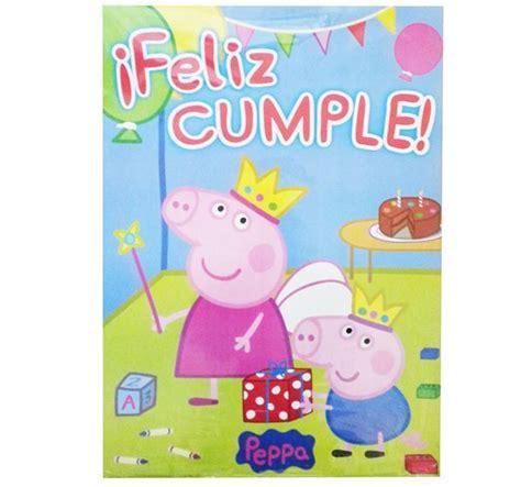 peppa pig feliz cumpleaos afiche feliz cumple peppa pig partyplace
