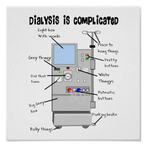 Small Gifts For Nursing Home Patients Dialysis Humor Gifts For Nurses Techs Patients Poster