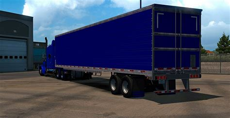 blue trailer new animation blue reefer trailer mod american
