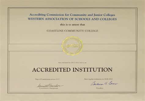 Accredited Mba Programs California by Accreditation 171 Coastline Community College