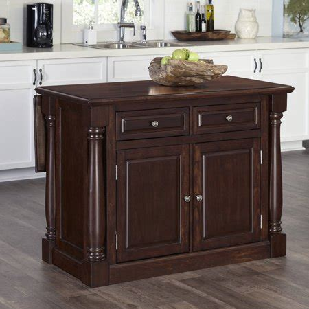 cherry wood kitchen island kitchen island with wood top in cherry finish walmart