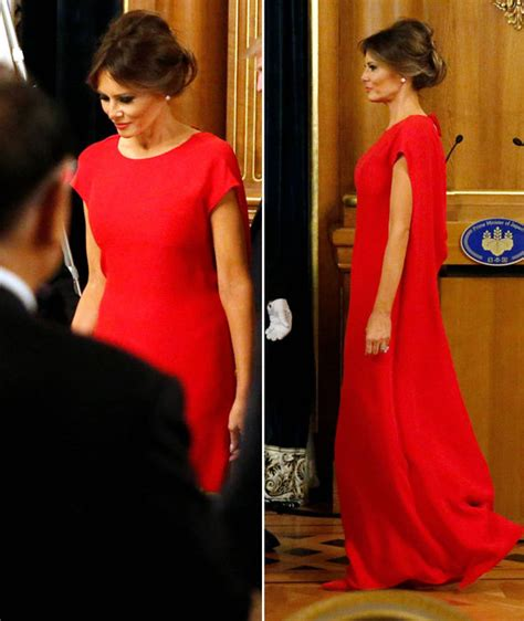 hope hicks japan outfit melania trump news first lady looks red hot as she dines