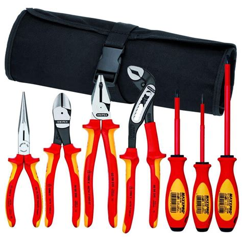 Best Kitchen Knives Brand by Knipex 9k989827us Hybrid Tool 7 Pc Pliers And Screwdriver