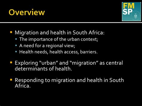 challenging common assumptions around migration and health