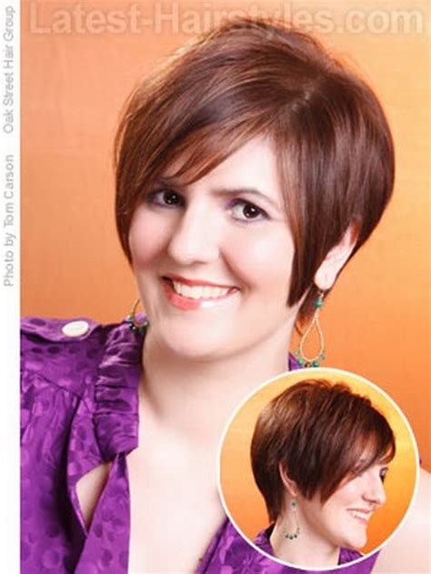 hairstyles for short necks and round faces haircut for fat face short neck hairstylegalleries com