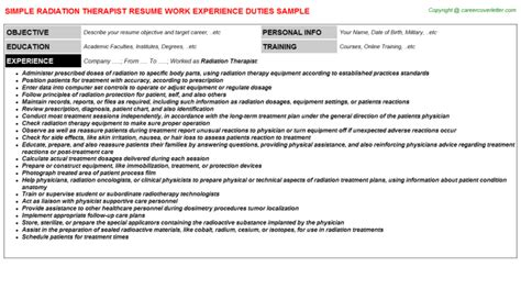 Radiation Oncology Sle Resume by Radiation Therapist Student Resume 28 Images 10 Best Ideas About Radiation Therapist On