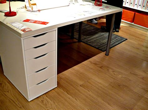 Light Wood Floor Idea For Office Feat Multi Purpose Ikea White Desk With File Drawer