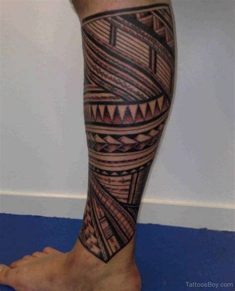 tribal tattoo on leg leg tattoos designs pictures page 6