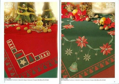 cenefas navidad punto de cruz navidad manteles cenefas y pie de arbol punto en cruz