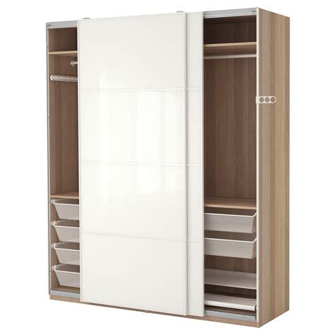 pax wardrobes ikea pax wardrobe white stained oak effect f 228 rvik white glass