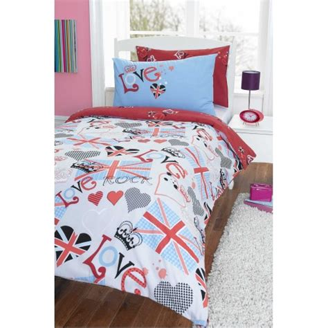punk bedding punk rocker duvet cover set from century textiles
