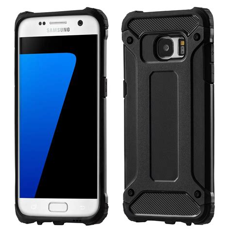 Samsung Galaxy S7 Edge Tough Hybrid Armor Casing Bumper Cover hybrid armor tough rugged cover for samsung galaxy s7 edge g935 black black hurtel pl