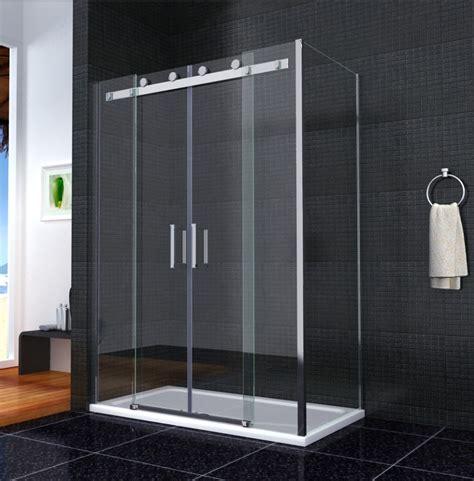 Shower Enclosures Sliding Doors Shower Enclosure Walk In Sliding Door Glass Cubicle Side Panel Tray