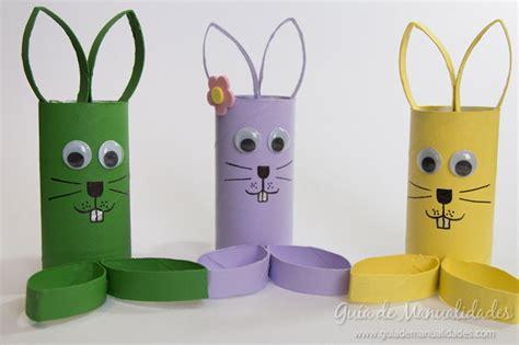 manualidades hechas con carton de animales simp 225 ticos conejos con tubos de cart 243 n gu 237 a de manualidades