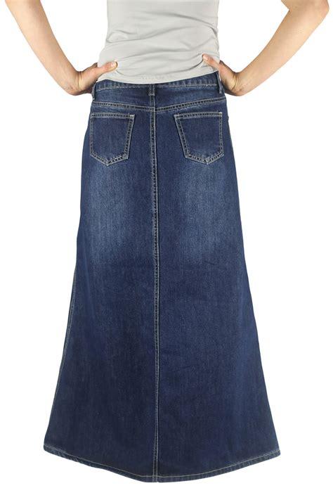plus size timeless class modest denim skirt modest