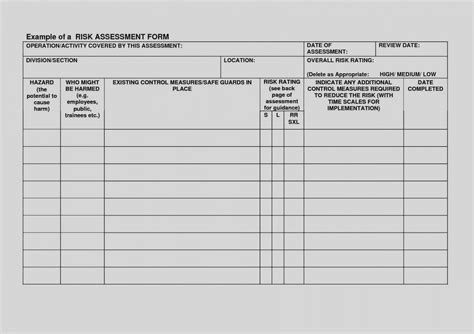 Elegant Free Risk Assessment Template Blank With Da Form 5960 Luxury Fm 10 2018 Blank Template Free Risk Assessment Template