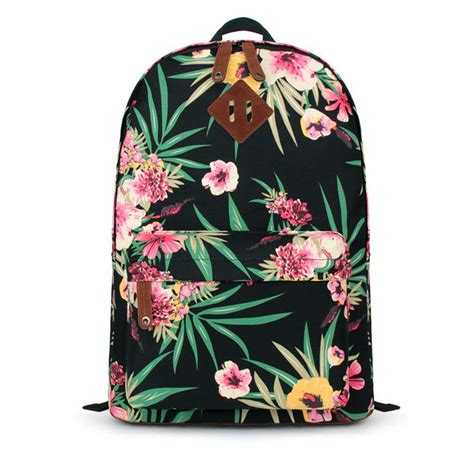 Print Canvas Backpack jasper floral print canvas backpack on luulla