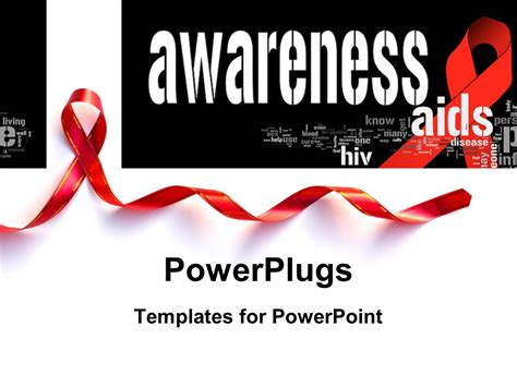 Aids Template by Powerpoint Template Aid Awareness Concept With