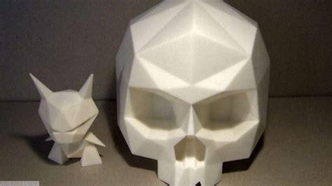 Origami Skull 3d - alto x dms skelevx clutter magazine