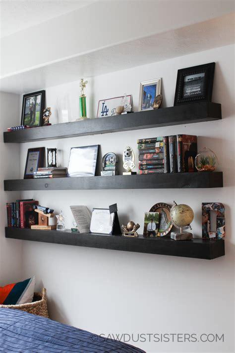 diy floating shelves  plans sawdust sisters