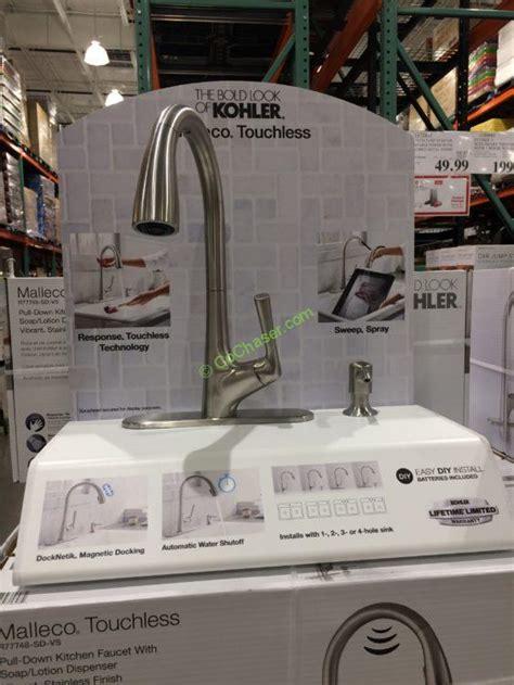 kohler touchless kitchen faucet kohler malleco touchless pull kitchen faucet