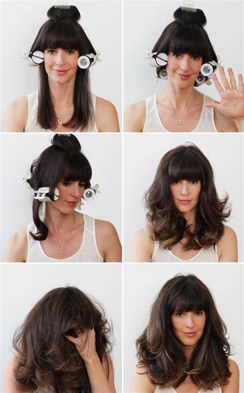 how to section hair for hot rollers the 25 best hot roller tips ideas on pinterest using