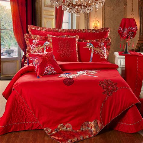 luxury wedding bedding sets 6pcs 100 cotton comforter