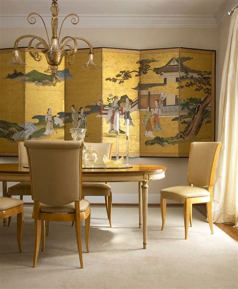 Gold Room Decor Serene And Practical 40 Asian Style Dining Rooms