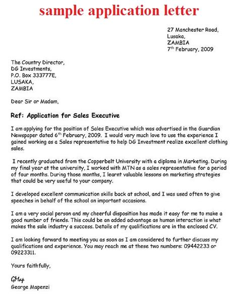 application letter how to application letter exle how to write a
