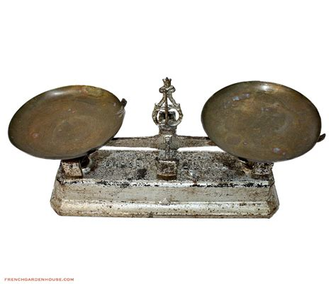 Antique french cast iron amp brass bakery balance scale