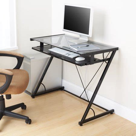 black glass top desk mainstays solar glass top desk black best desks